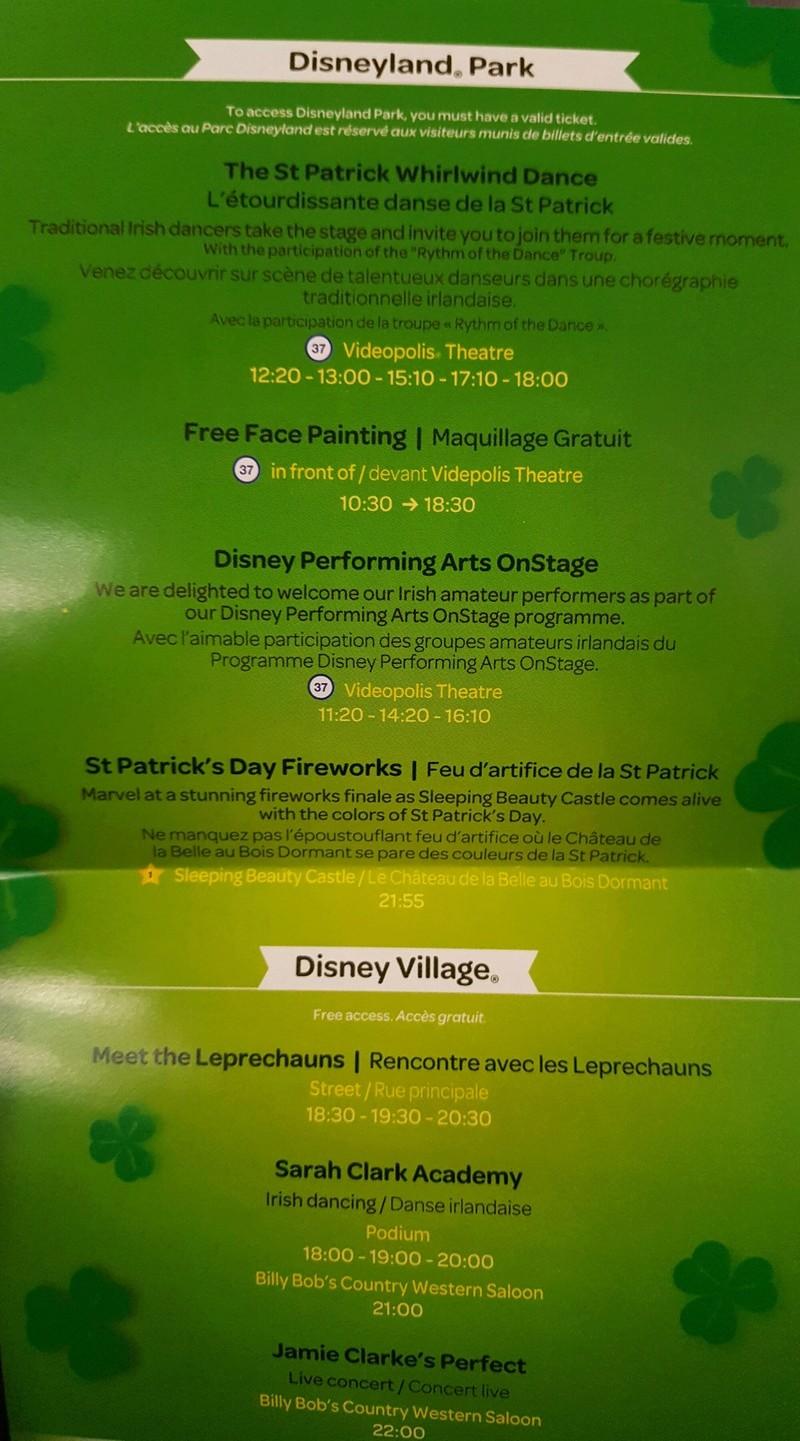 La St Patrick à Disneyland Paris ? 20180310