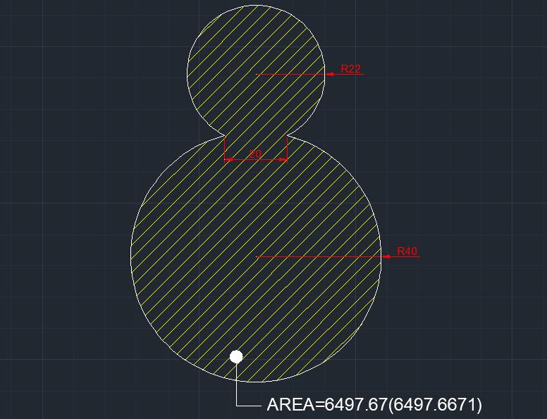 AutoCAD教學 幾何圖形習題03 Izia11