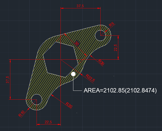 AutoCAD教學 幾何圖形習題02 Izia12