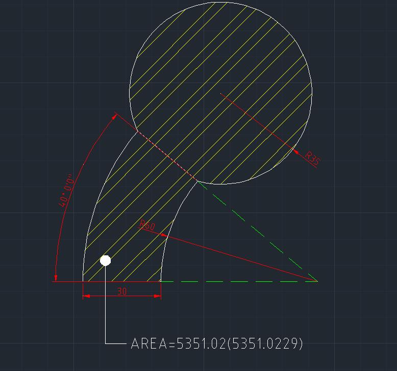 AutoCAD教學 幾何圖形習題08 Izia16