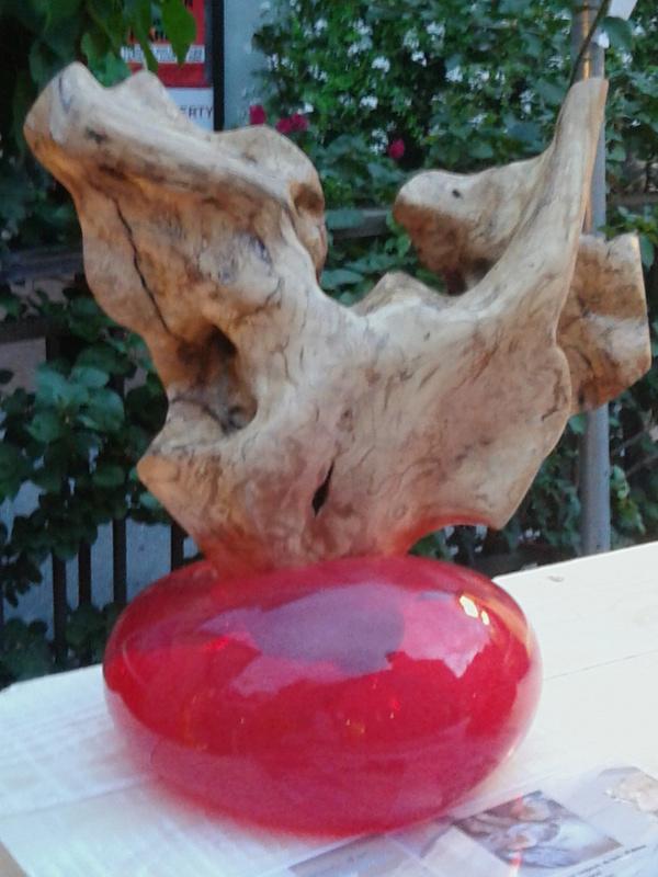 sculpture bois et verre soufflé Img_2019
