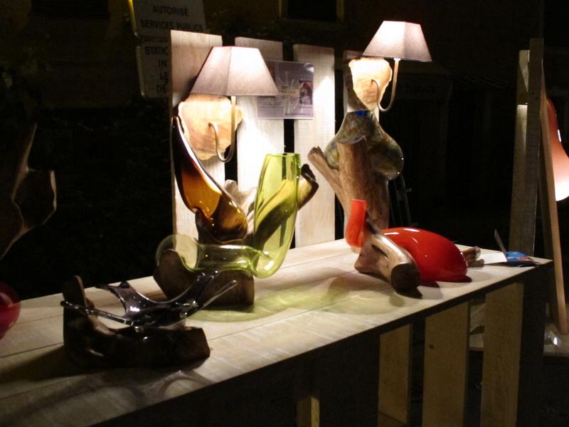 sculpture bois et verre soufflé Img_4410