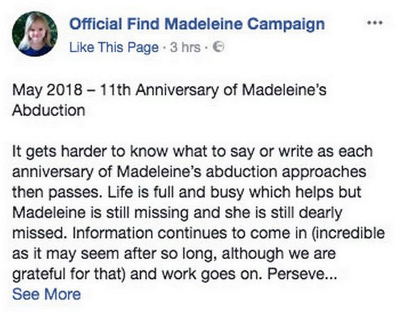 Maddie McCann's parents to join prayer service marking anniversary of her disappearance  111