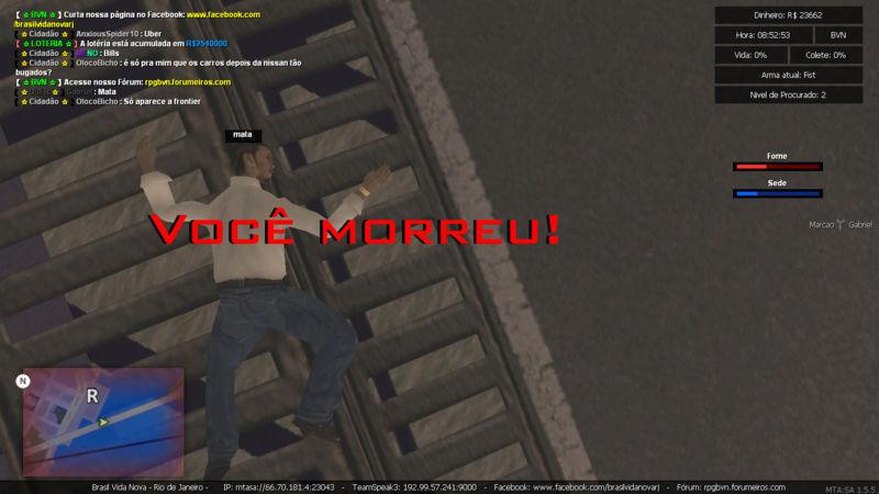 Denuncia contra player Marcao Matando enquanto estava trabalhando de caminhao e Roubando carga Sem tag de policia e Me prendeu PERDI  5K Mta-sc26
