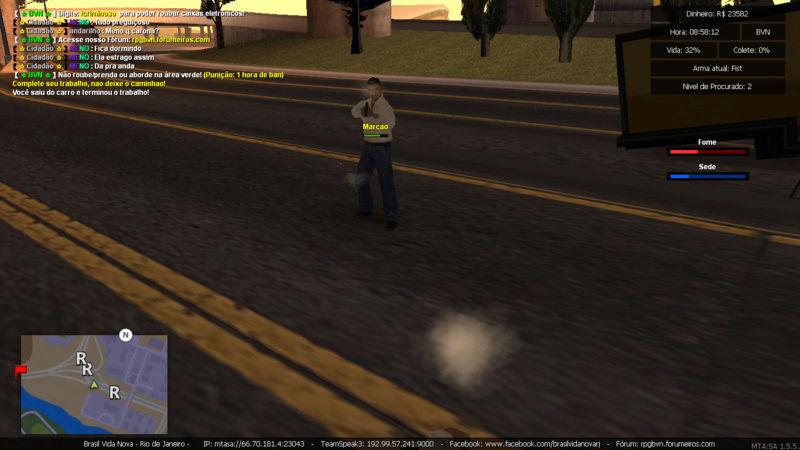 Denuncia contra player Marcao Matando enquanto estava trabalhando de caminhao e Roubando carga Sem tag de policia e Me prendeu PERDI  5K Mta-sc32