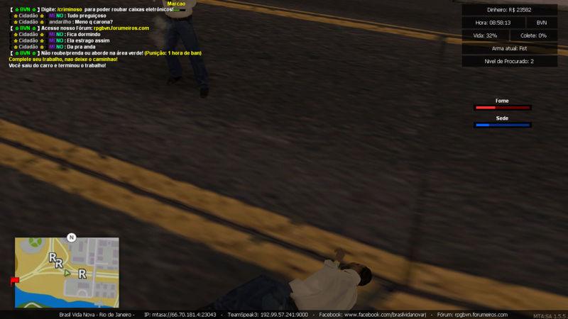 Denuncia contra player Marcao Matando enquanto estava trabalhando de caminhao e Roubando carga Sem tag de policia e Me prendeu PERDI  5K Mta-sc37