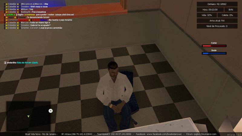 Denuncia contra player Marcao Matando enquanto estava trabalhando de caminhao e Roubando carga Sem tag de policia e Me prendeu PERDI  5K Mta-sc38