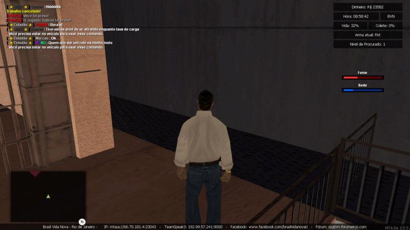 Denuncia contra player Marcao Matando enquanto estava trabalhando de caminhao e Roubando carga Sem tag de policia e Me prendeu PERDI  5K Mta-sc39
