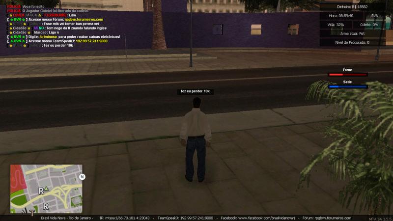 Denuncia contra player Marcao Matando enquanto estava trabalhando de caminhao e Roubando carga Sem tag de policia e Me prendeu PERDI  5K Mta-sc40