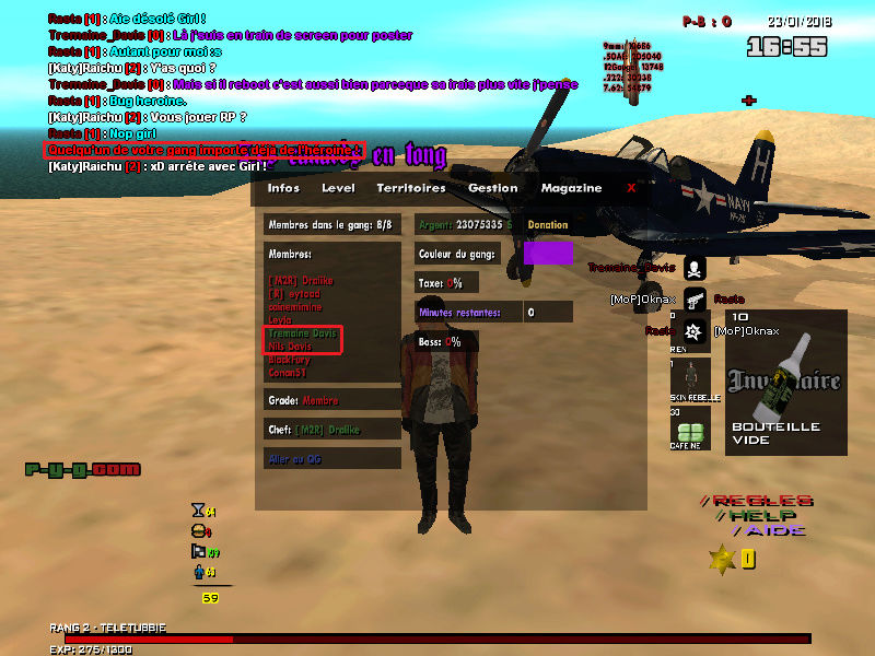 Sac d'héroine sous la map Hyro_q11