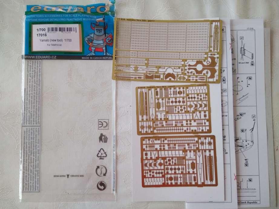 IJN Yamato Tamiya 1/700e + PE Eduard Pe10
