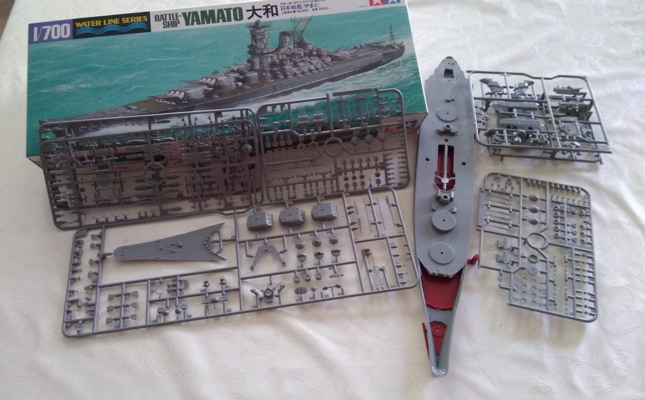 IJN Yamato Tamiya 1/700e + PE Eduard Yam10