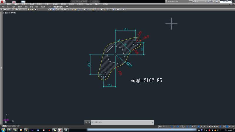 AutoCAD教學 幾何圖形習題02 0210