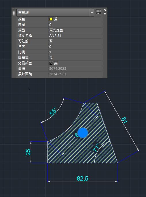 AutoCAD教學 幾何圖形習題04 Oeu810