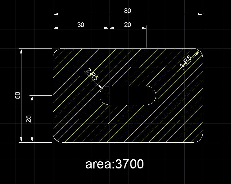 AutoCAD教學 幾何圖形習題01 Test111