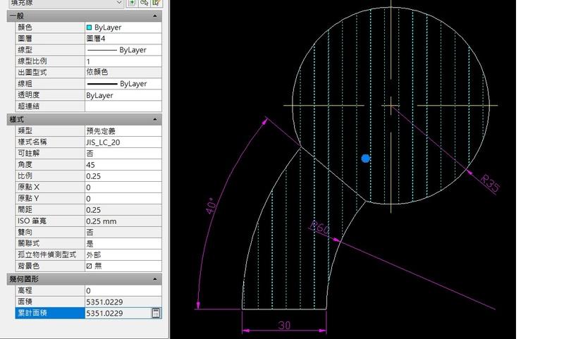 AutoCAD教學 幾何圖形習題08 0130-210