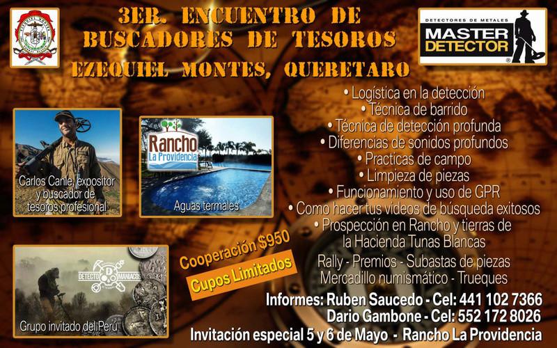 3er. Encuentro de buscadores de Tesoros.. Ezequiel montes Queretaro.. 27335510
