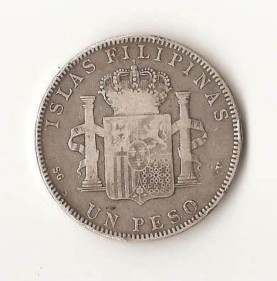 1 Peso de Filipinas de Alfonso XIII - 1897 B10