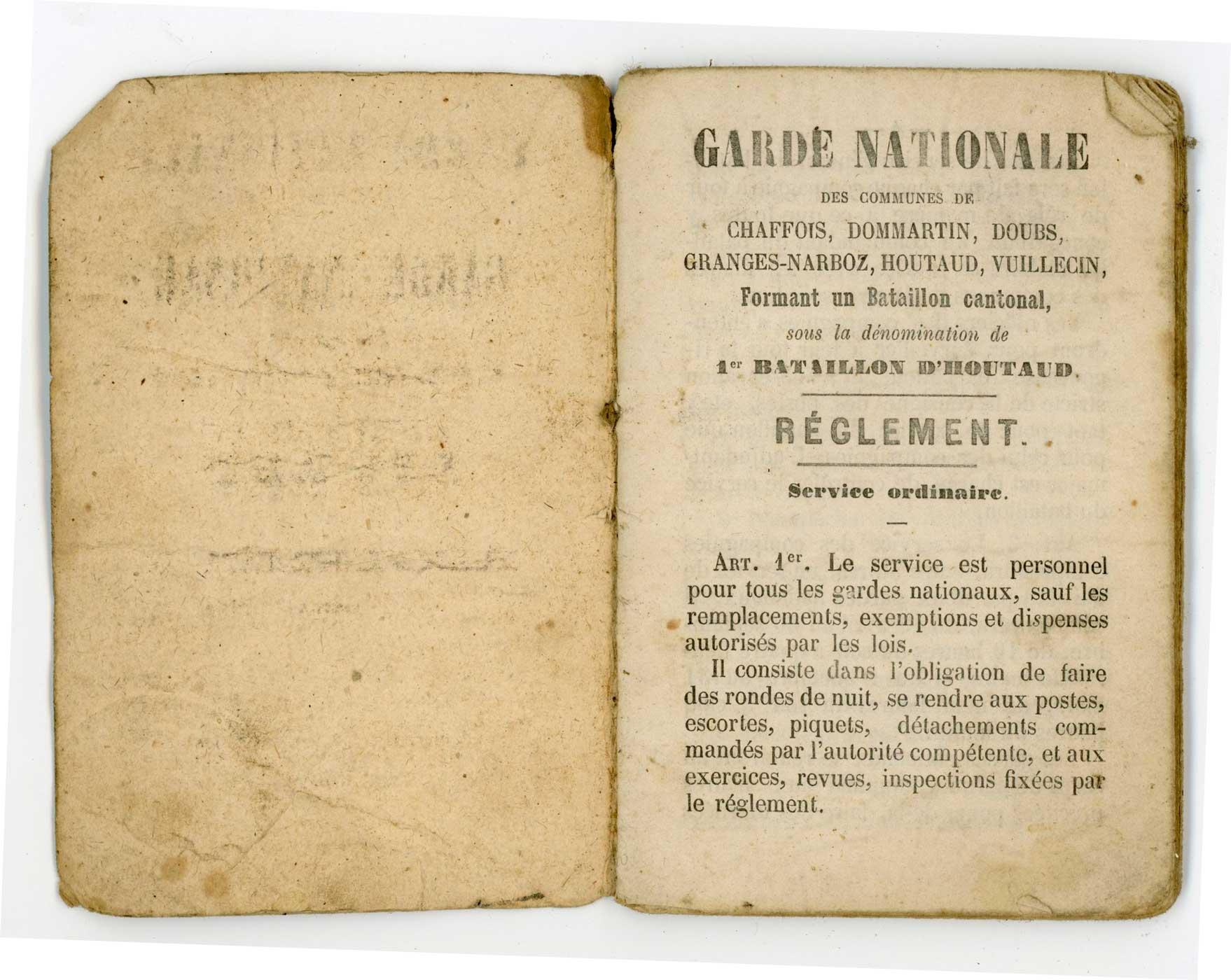 """Livret """"militaire"""" de Garde National 1870 Doc_li27"""