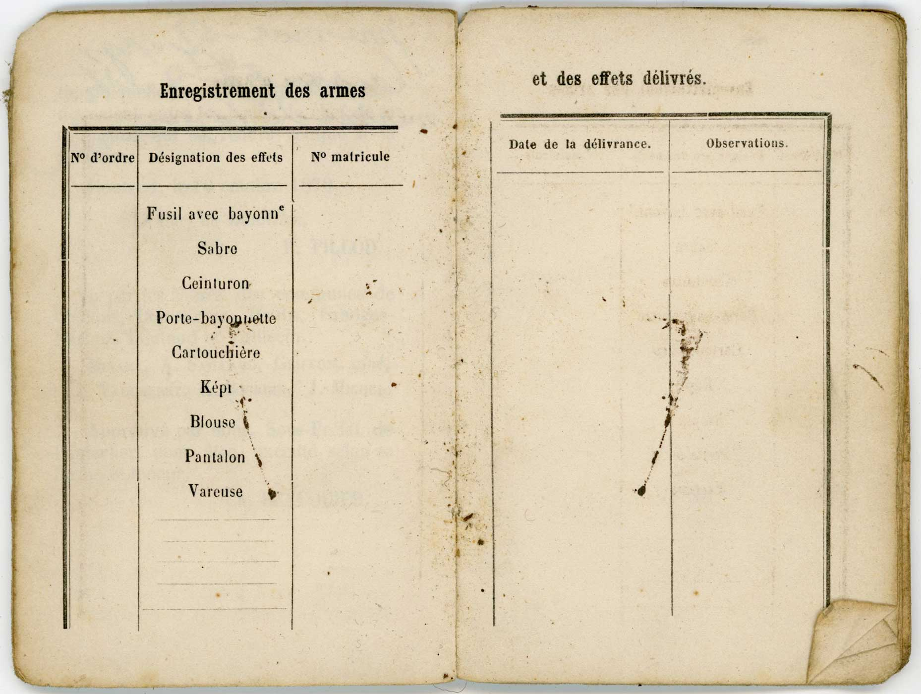"""Livret """"militaire"""" de Garde National 1870 Doc_li29"""