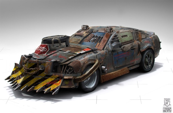 """Shelby 69 """"mad max"""" 1/24 Zombie10"""