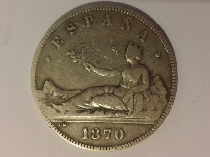 5 pesetas 1870 Gobierno Provisional 20180110