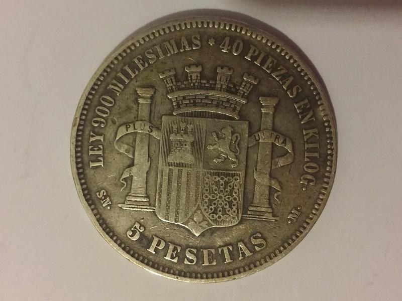 5 pesetas 1870 Gobierno Provisional 20180111