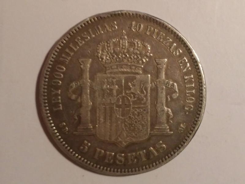 5 pesetas 1871 (*18-71) Amadeo I 20180115