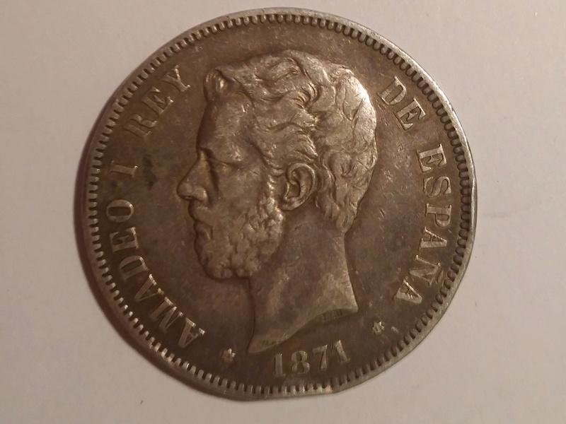 5 pesetas 1871 (*18-71) Amadeo I 20180116