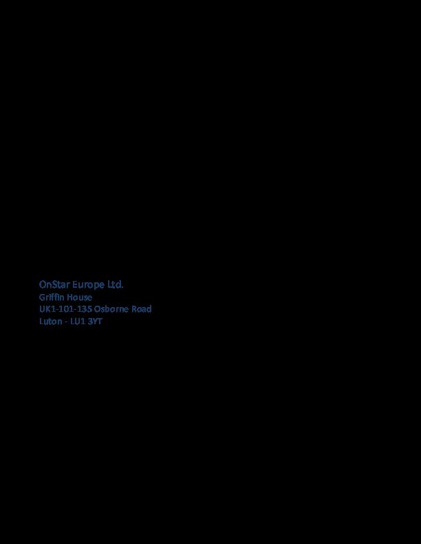 OnStar su Ultimate è gratuito per 3 anni. Vero o falso? Onstar11