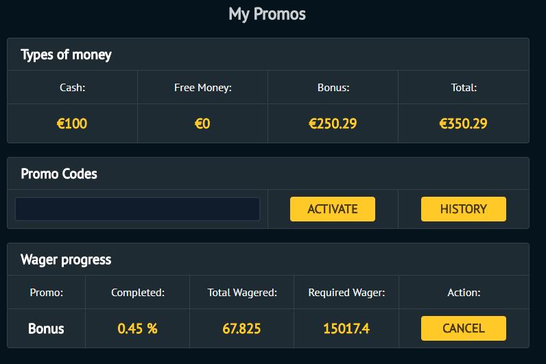 BetVoyager 1000% bonus up to 50 EUR Comamz10