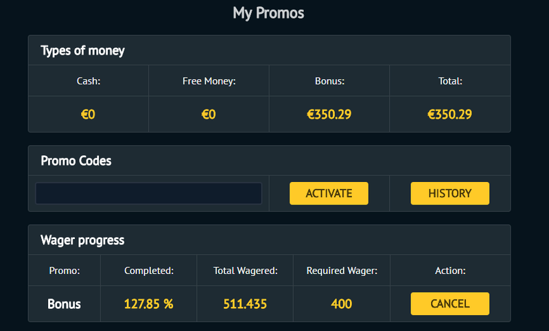BetVoyager 1000% bonus up to 50 EUR Wagere10