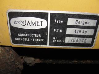 Recherche de notice et plan demontage JAMET Arizona Carava12
