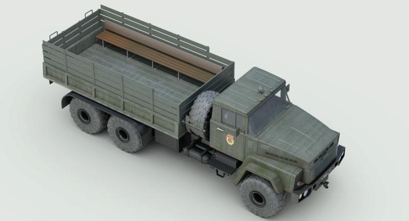 Banquette latérales camion X Kraz_910