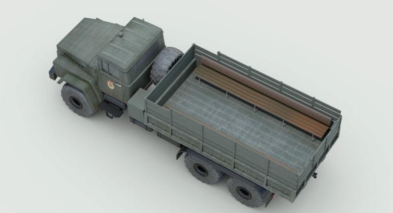 Banquette latérales camion X Kraz_911