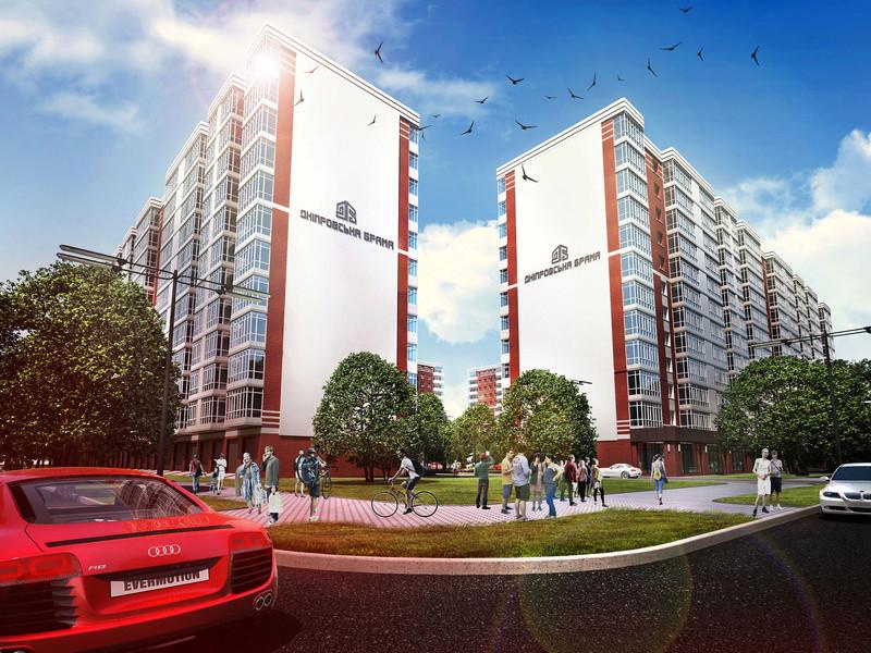 ЖК Днепровская Брама | 10x12 эт. | 2021 строится Vis133