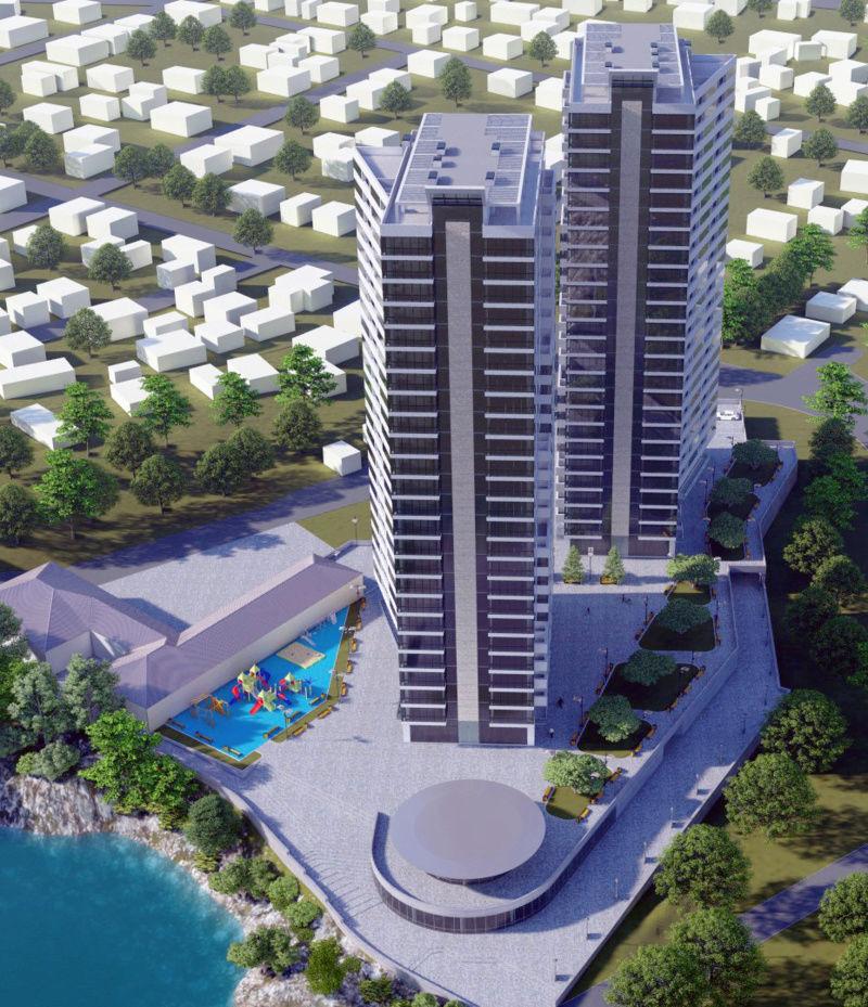 ЖК Новокодакские Башни | 2х25 эт. | 2022 строится Vis327
