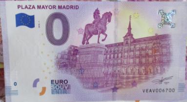 "BILLETES ""O"" (ZERO) EUROS.................(en general) Plaza_10"
