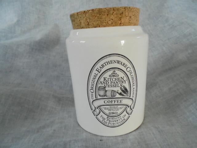 Stewart Potteries Ltd Colonial Range Coffee caddy Dsc02214