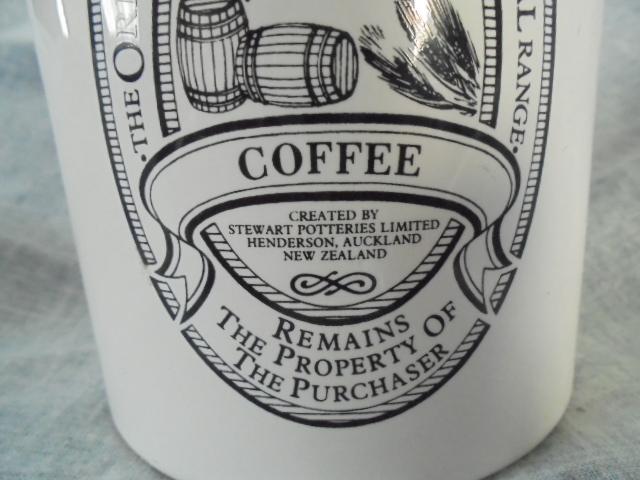 Stewart Potteries Ltd Colonial Range Coffee caddy Dsc02215