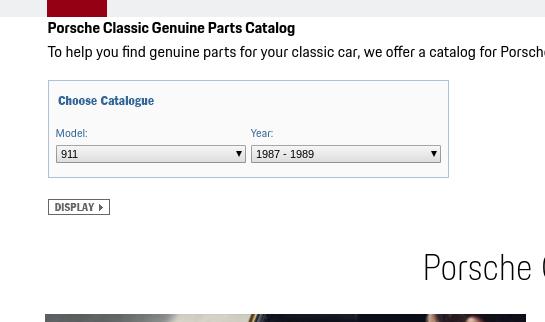 catalogue de pieces OEM pour toutes les porsches classic Screen13