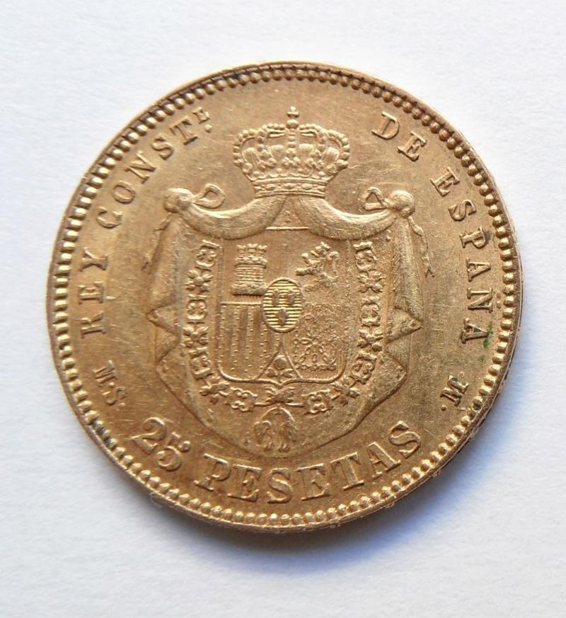 25 pesetas 1882. Alfonso XII. Ayuda con valoración Moneda14