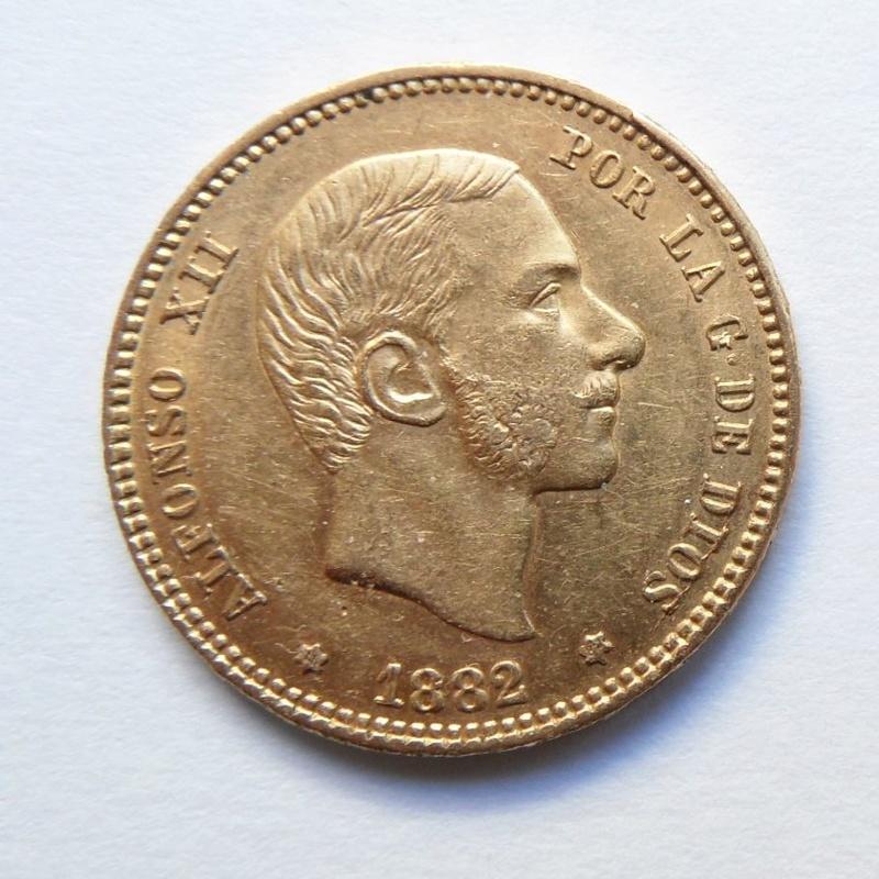 25 pesetas 1882. Alfonso XII. Ayuda con valoración Moneda15