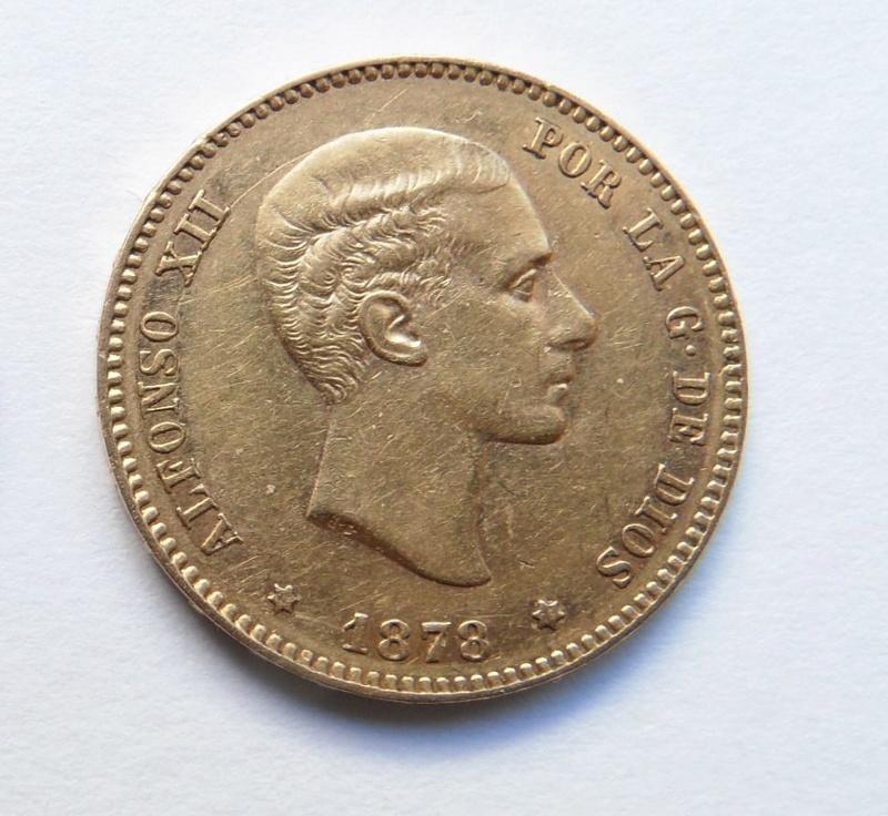 25 pesetas 1878. Alfonso XII. Ayuda con valoración Moneda17