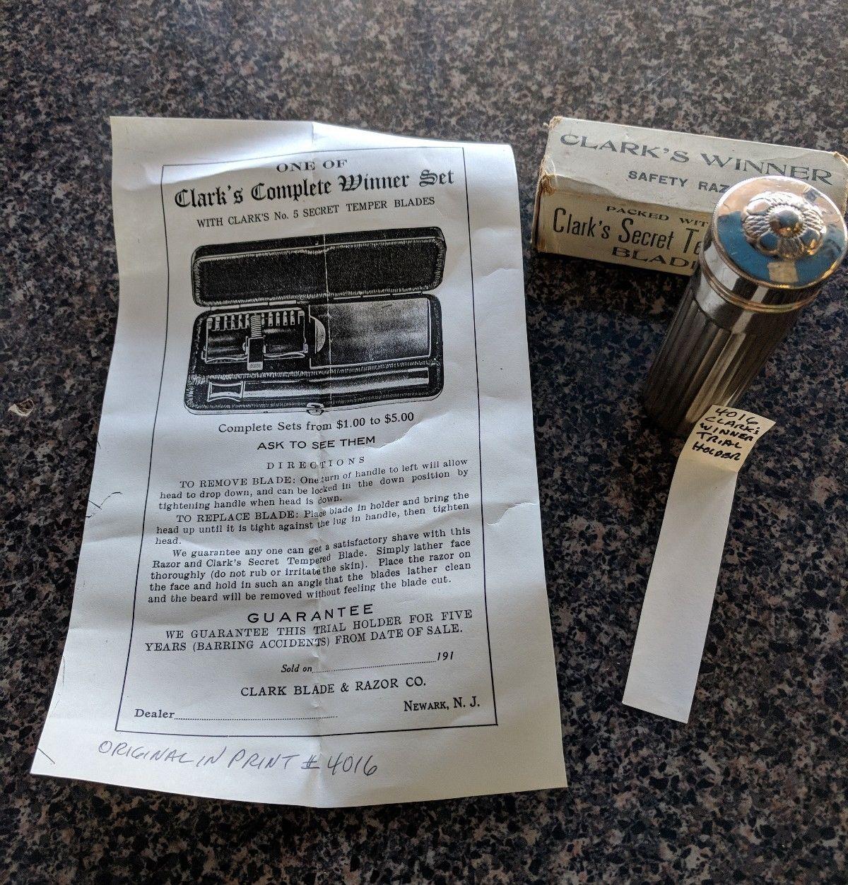 1927 -  Clarks Winner un SE à lames rigide  de très bonne facture  Cw510