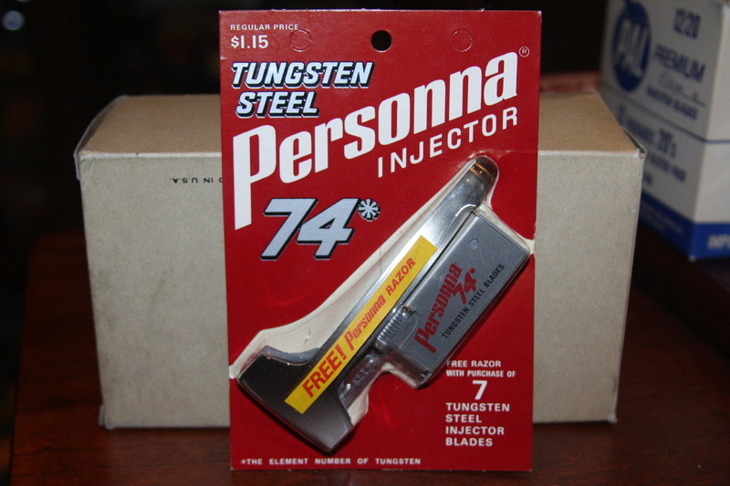 Personna all stainless & Personna 74  Tungsten  Injectors Person10