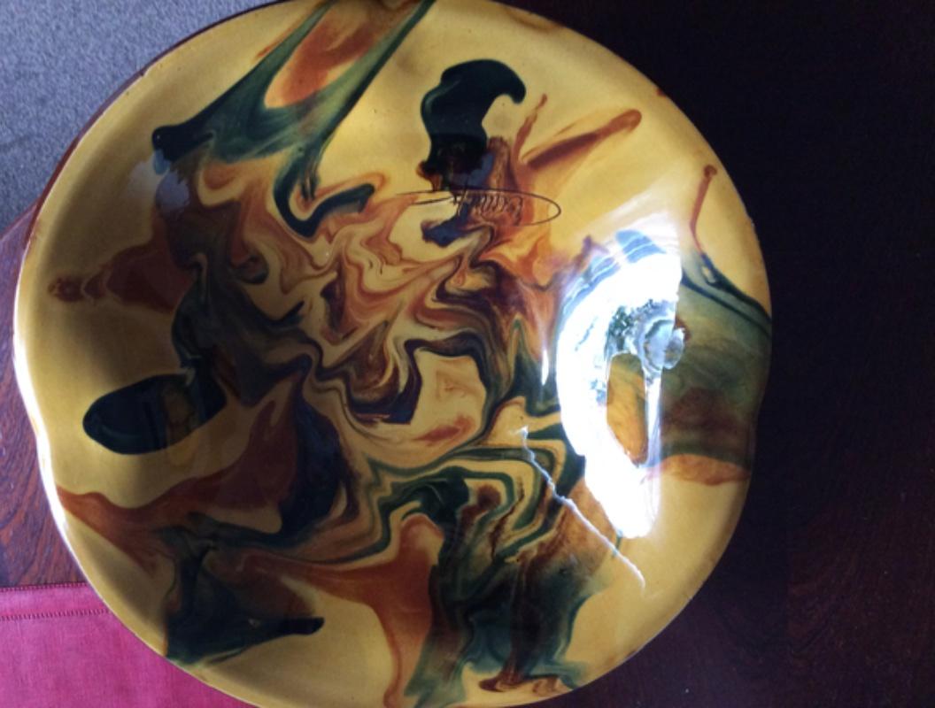 Slipware bowl / dish - Ceramy, Catalan, Spain 9d154110