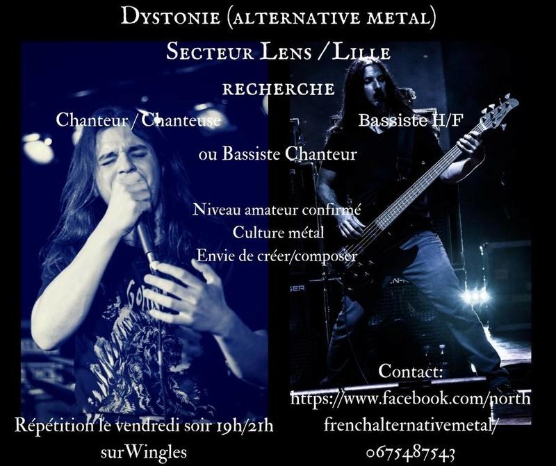 Cherche chanteur et bassiste - Metal alternatif/ Lens lille _3149910