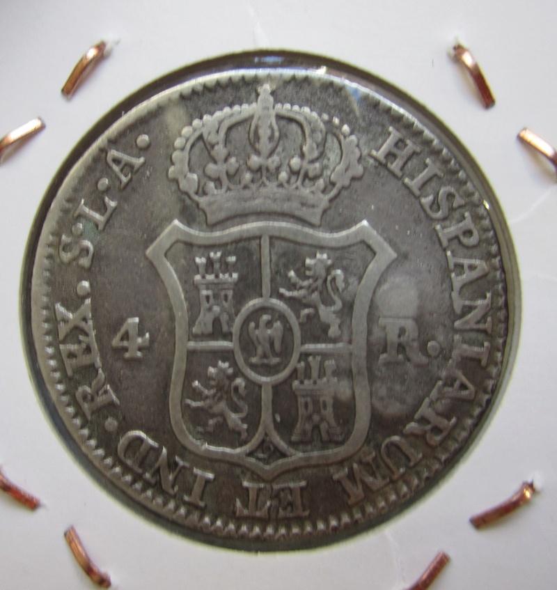 4 reales 1812. José I. Sevilla. Resello de Cuba Img_7010