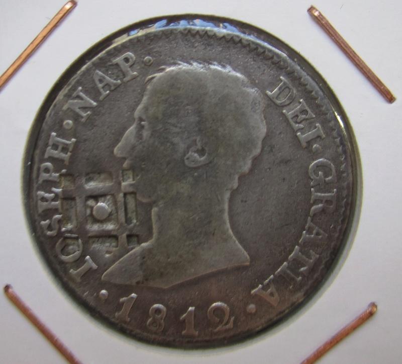 4 reales 1812. José I. Sevilla. Resello de Cuba Img_7011